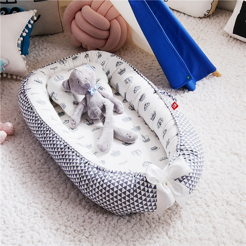Baby Sleeping Artifact Bed Crib Bed Feeding Newborn Baby Pressure-proof Safety Baby Coaxing Crib Portable Double-sided Use enlarge