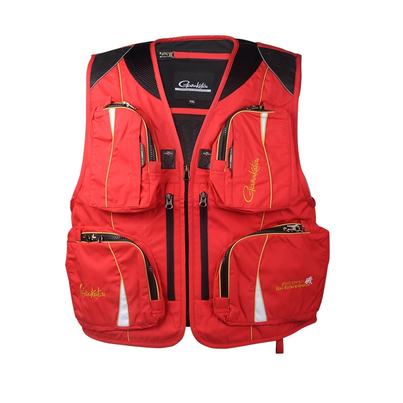 2020 New Outdoor Sporting Fishing Vest Non-flotation Vest Multi-function Multi-pocket Fishing Vest Ultralight enlarge
