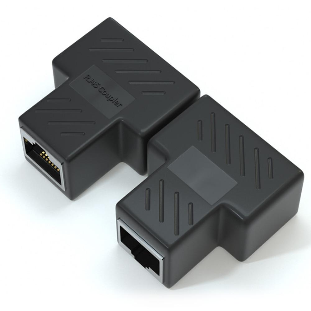 Adaptador de Cable divisor hembra RJ45... conector Ethernet de 1 a 2...