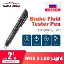Auto Liquido di prova Tester Liquido Freni penna 5 indicatore LED display per DOT3/DOT4 penna elettronica liquido freni olio tester Digitale