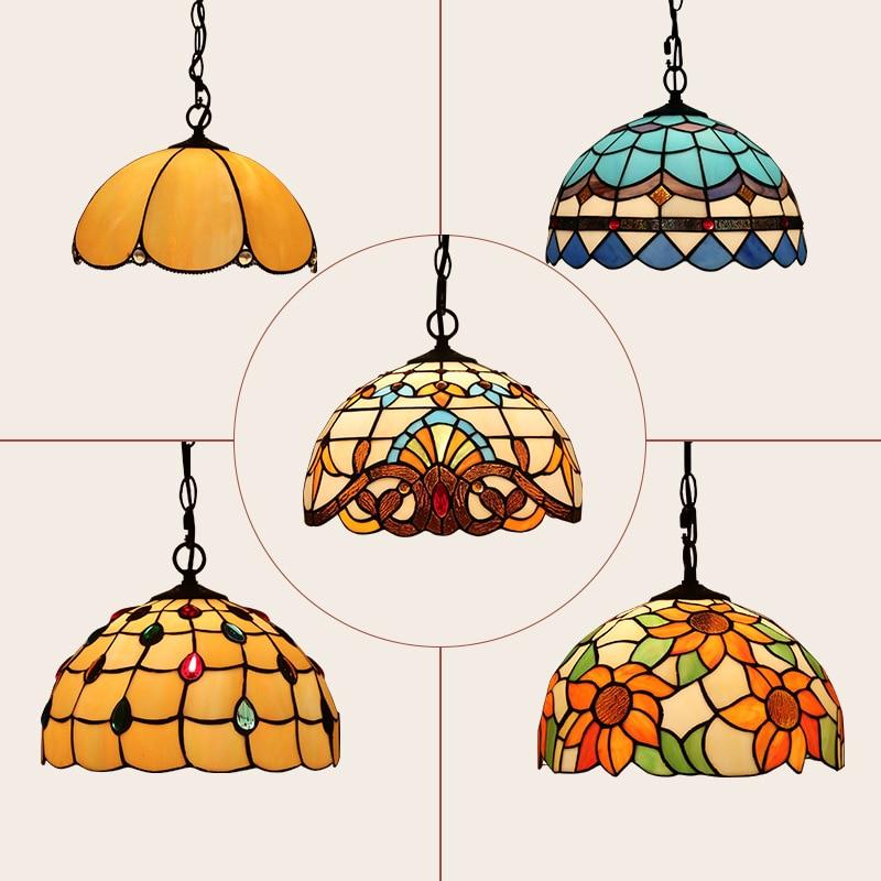 12-Polegada estilo europeu retro luz de teto estilo mediterrâneo lustre lamparas de techo colgante moderna 3 decoração para casa