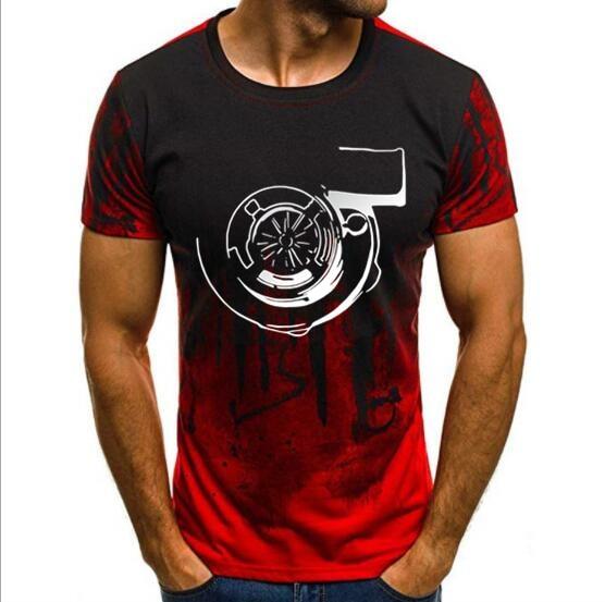 Camouflage Short Sleeve Mens O Neck Turbocharger Tee Shirt, Turbo T Shirt, Skyline, Muscle Car, Tops New Logo Print T Shirt