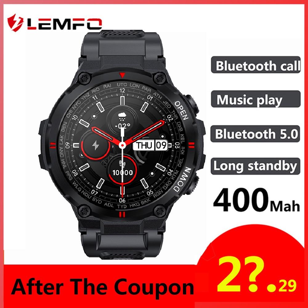 LEMFO K22 ريكس برو ساعة ذكية الرجال 400Mah بطارية كبيرة تشغيل الموسيقى جهاز تعقب للياقة البدنية بلوتوث دعوة الرياضة Smartwatch 2021 PK