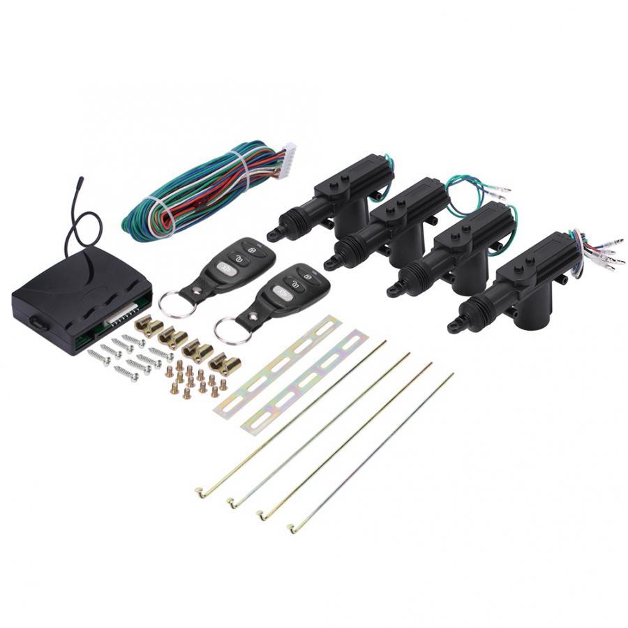 Carro de controle remoto 4 porta energia sistema bloqueio central bloqueio automático segurança keyless entrada kit para a segurança do carro entrega doméstica
