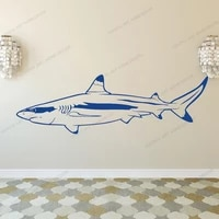 white shark sea ocean animal wall decal viny decor wall sticker wall art removable mural wall decals decal cx508