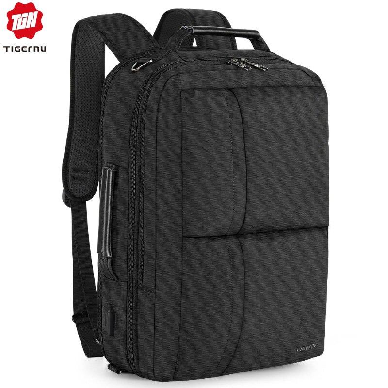 Tigernu, новинка 2020, Расширяемый Рюкзак большой вместимости, мужской, Противоугонный, 15,6 дюймов, рюкзак для ноутбука, usb зарядка, водонепроницаемый, школьные сумки