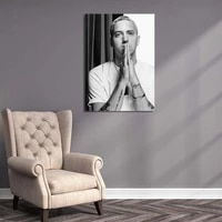 canvas painting eminem handsome man retro wall art hd printing gift poster home decorative modern living room modular pictures