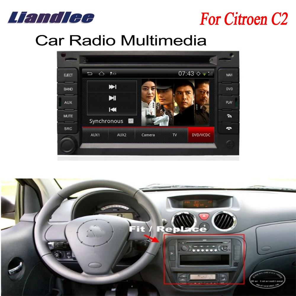 Radio de navegación GPS Android para coche para Citroen C2 2003 ~ 2009 TV reproductor DVD Audio Video estéreo sistema Multimedia