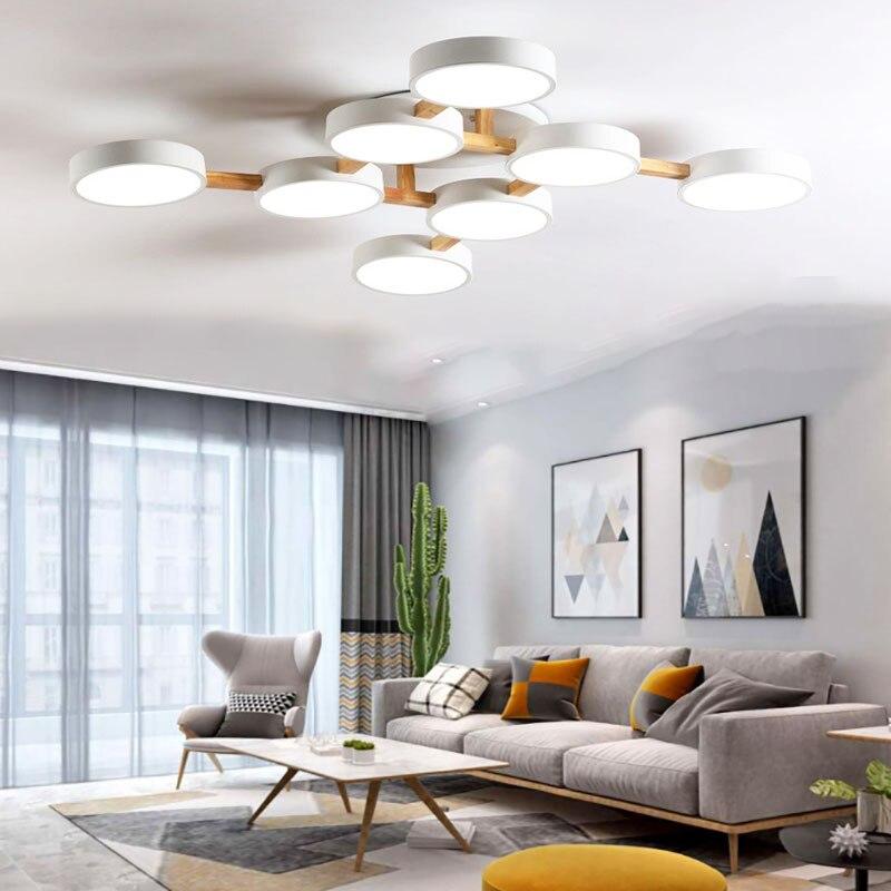 الشمال LED مصباح السقف خشب متين الثريا مصباح سقفي لغرفة المعيشة LED الثريا إضاءة غرفة النوم مصباح ضوء المصنع مباشرة