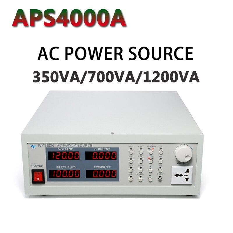 APS4000A zasilanie prądem zmiennym źródło zasilania typ pamięci zmienna częstotliwość wyjście zasilania podwójne ubezpieczenie 220V 350VA/700VA/1200VA
