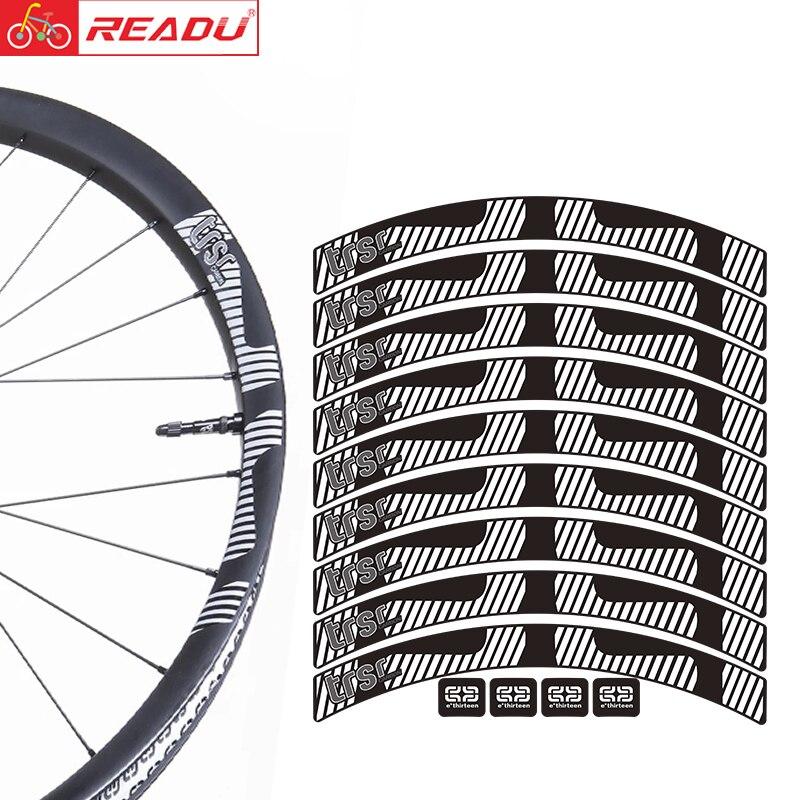E. treze trsr conjunto de rodas montanha carbono adesivos e13 mtb aro decalques bicicleta adesivos