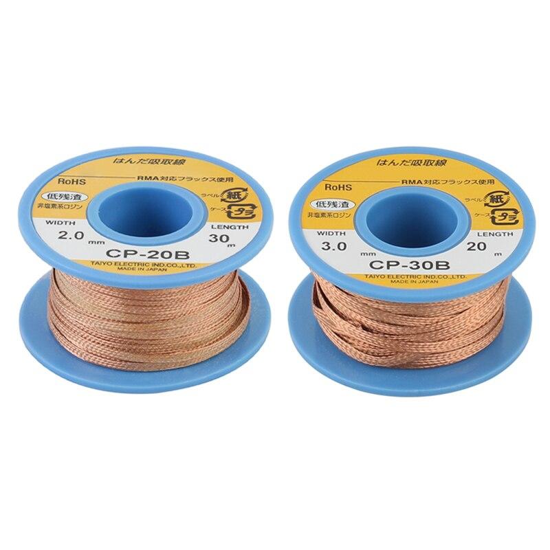 ¡Original! GOOT CP20B CP30B desoldador de succión de alambre de estaño para precisión PCBs RMA Tin Remove