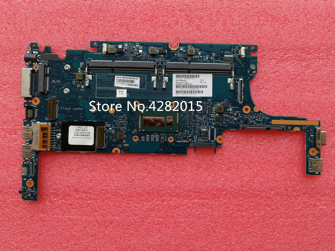 6050A2630701-MB-A01 ل HP 820 G1 اللوحة المحمول 802496-601 802496-001 مع I5-4200 وحدة المعالجة المركزية DDR3 اللوحة الرئيسية 100% اختبارها بالكامل