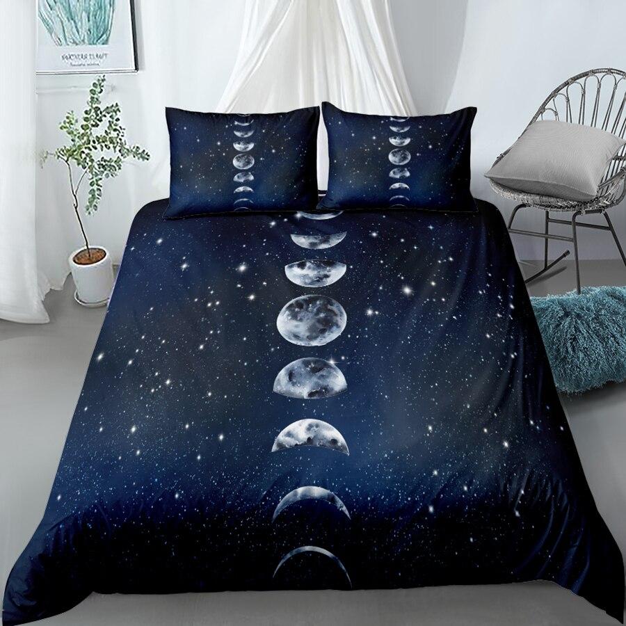 Eclipse3D مجموعة غطاء لحاف الملك الملكة مزدوجة كاملة التوأم حجم واحد أغطية سرير مجموعة