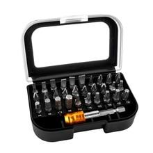 31 en 1 embouts de tournevis magnétiques costume de haute qualité 25mm Bits et embouts adaptateur ensemble pour électricien outils à main ensembles
