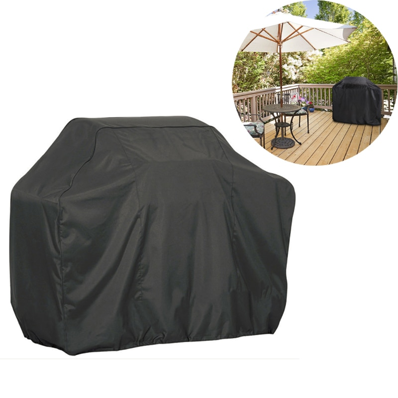 BBQ Cover Outdoor Dust Waterproof Grill Cover Gas Anti-dust Rain Sun Protective Barbecue Cover For Gas Charcoal Storage Tools