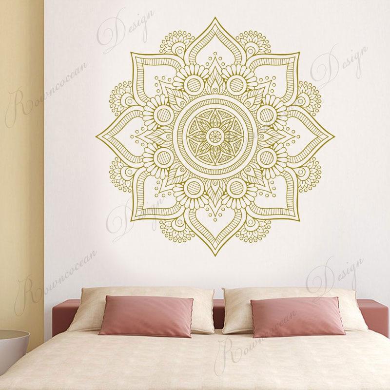 Diseño Creativo Mandala pegatina de pared vinilo arte decoración del hogar sala de estar dormitorio cabecero decoración calcomanías Mural extraíble 4089