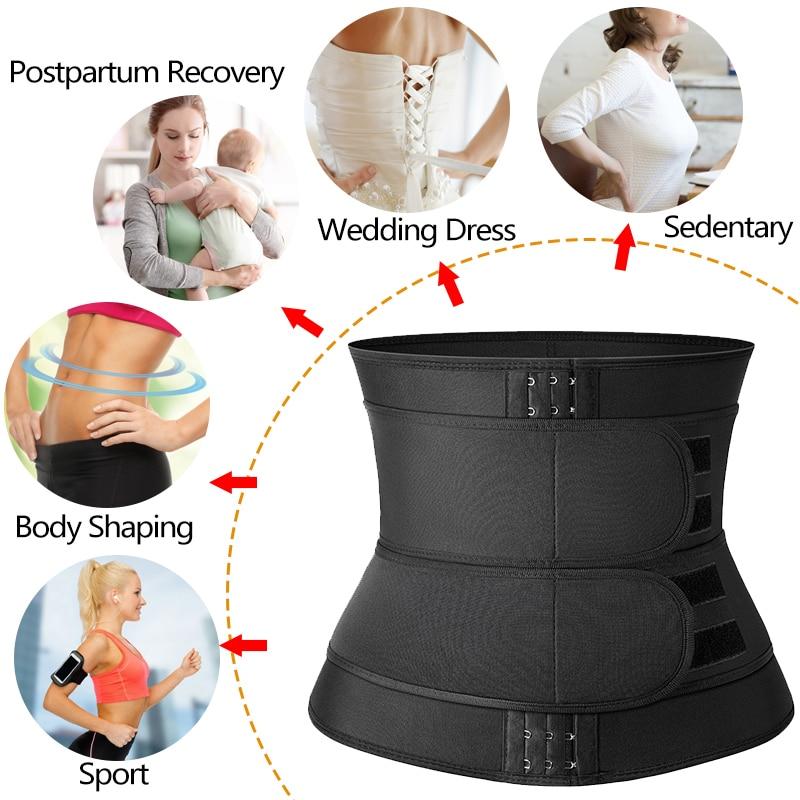 Women Waist Trainer Neoprene Body Shaper Belt Slimming Sheath Belly Reducing Shaper Tummy Sweat Shapewear Workout Shaper Corset