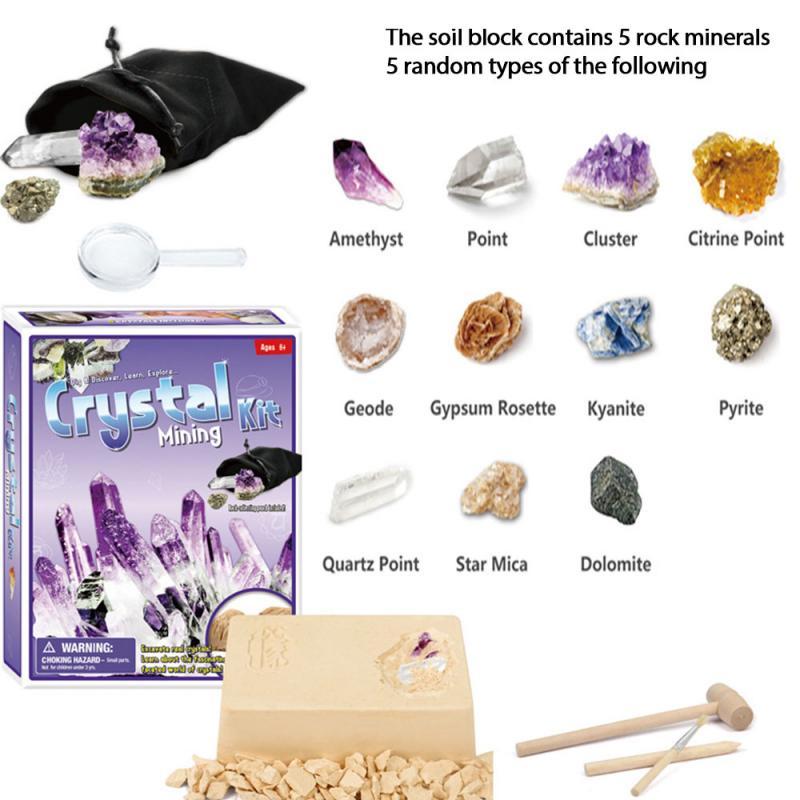 Обучающая игра, игрушка-фиджет для археологических раскопок, игрушка «сделай сам» для копания ископаемой руды, аксессуары, инструмент