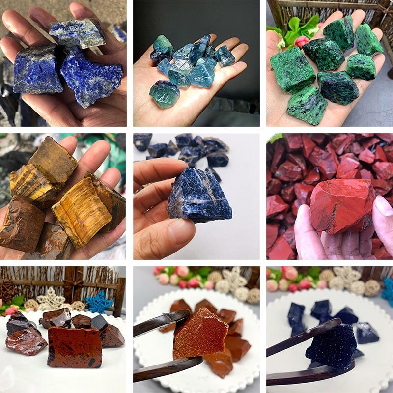 Real Rough Crystal Chakra Reiki Minerals Stones Fluorite Quartz Decoration Ornament Modern Irregular Ornaments Fish Tank Stone недорого