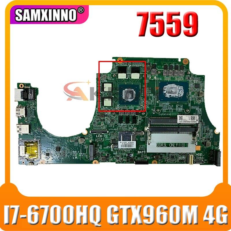 0MPYPP لديل انسبايرون 7559 CN-0MPYPP DAAM9AMB8D0 N16P-GX-A2 GTX960M 4G I7-6700HQ اللوحة المحمول MPYPP 100% العمل