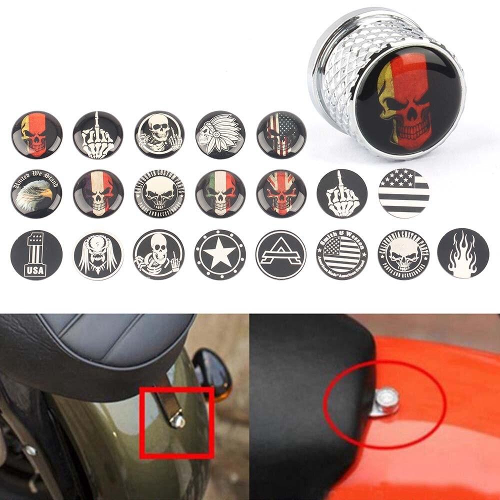 Аксессуары для мотоциклов, 8 мм, нержавеющая сталь, быстроразъемный винт для мотоцикла с черепом, подходит для индийского скаута, круглый год, хром