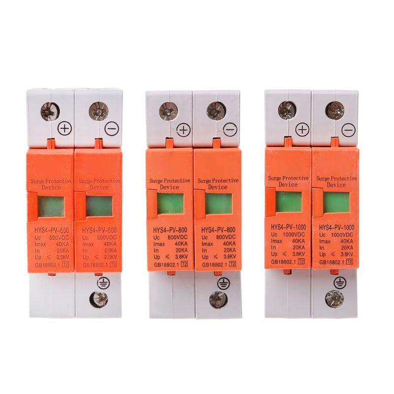 Hys4 dispositivo de proteção contra surtos spd casa dc relâmpago protetor contra surtos 2 pólo 20ka 4040ka