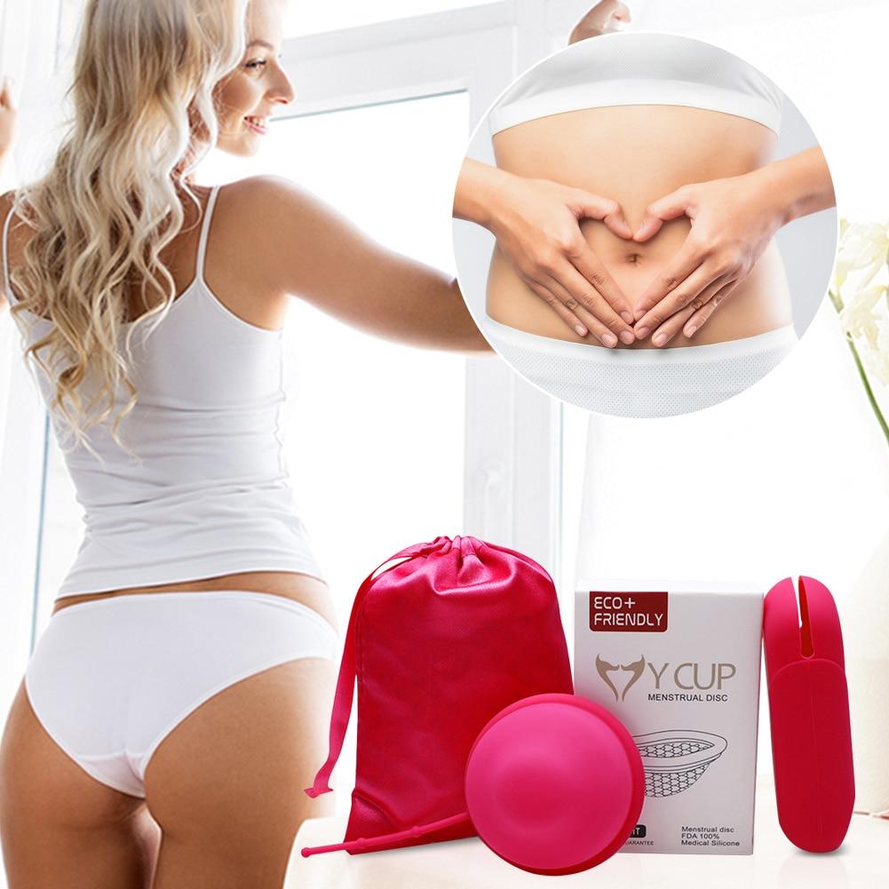 Многоразовые силиконовые диски для менструации, плоские диски для менструации, удобные диски для менструации, альтернативные диски