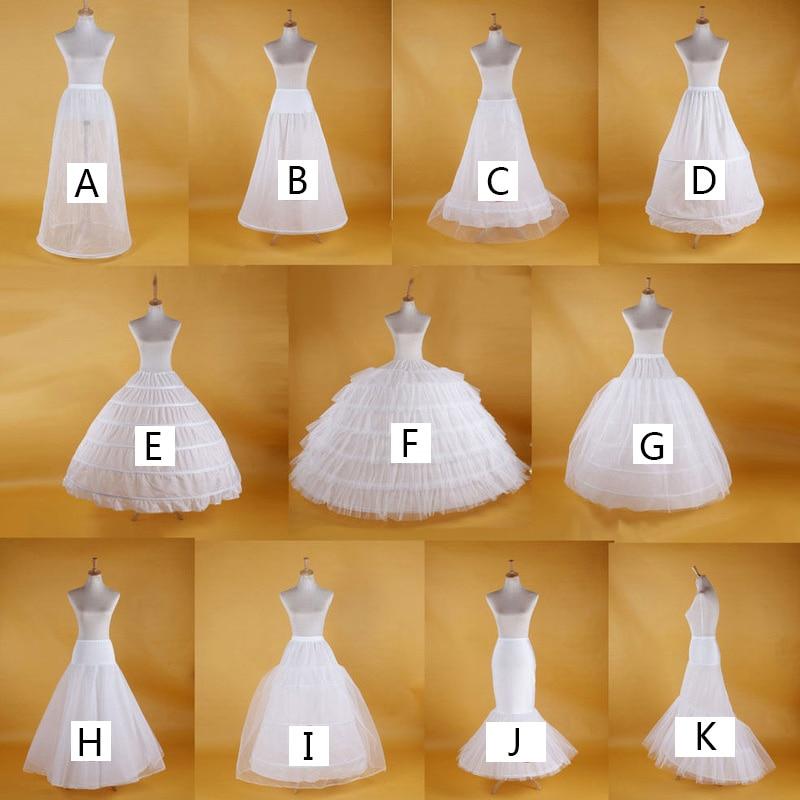 Boda nupcial enagua de Underskirt mujeres enagua blanca vestido de tul Boda...