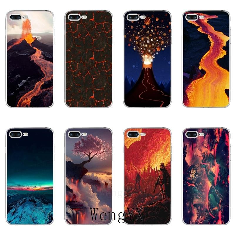Funda psicodélica de piso de Lava volcánica para Xiaomi Red mi note 8 7 7A pro k20 2 3 mi 9 9t CC9 CC9e 8 SE pro lite