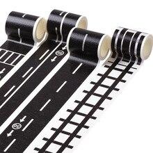 5m chemin de fer bande de circulation routière Washi bande autocollant bricolage trafic routier route adhésif ruban de masquage voiture autocollants pour enfants jouet voiture Train