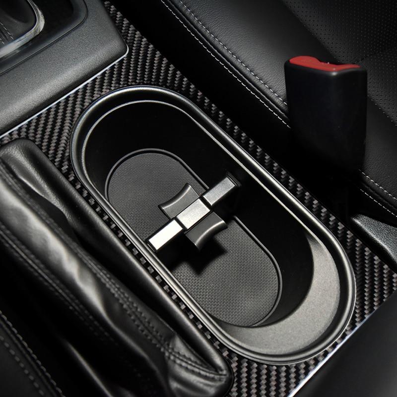 For Subaru Forester SJ accessories Gear Panel Center Console decorate carbon fiber automotive interior trim stickers 2014 2017