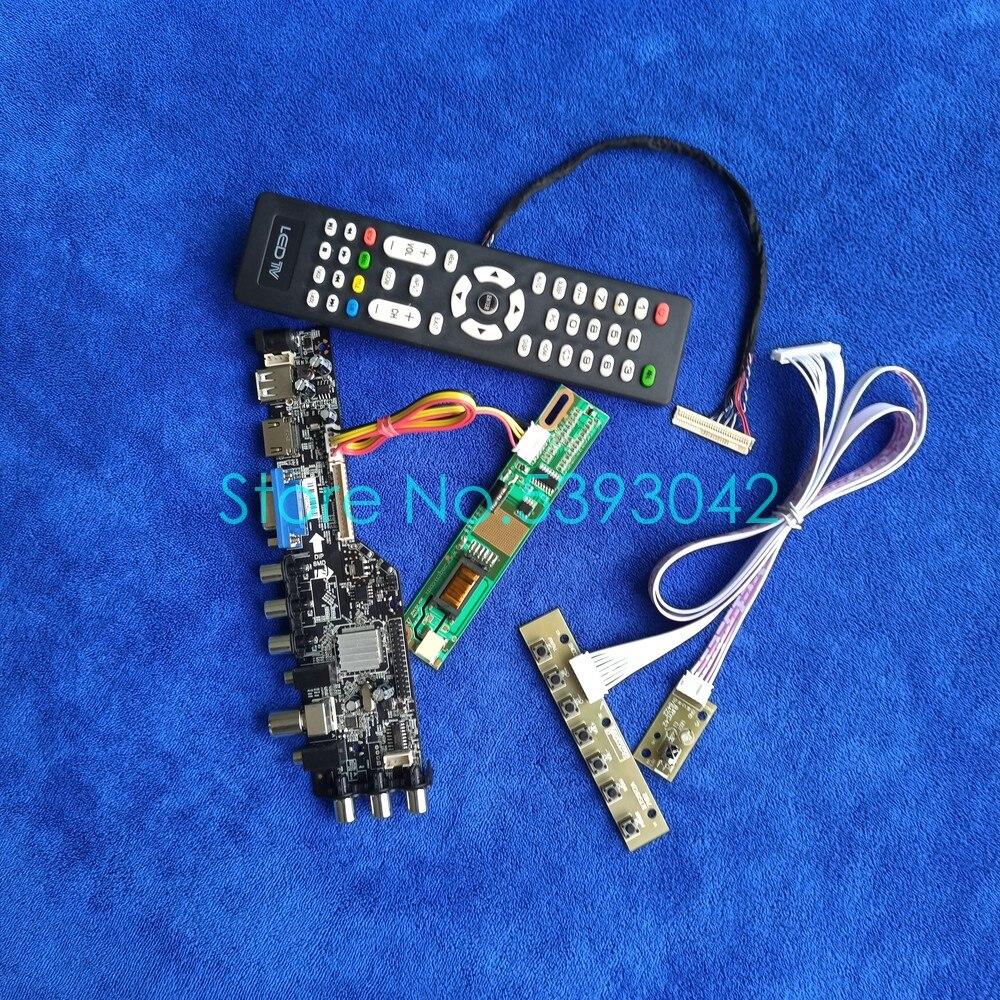 LVDS 30-Pin 1280*768 DVB-T USB الرقمية + VGA + AV 1CCFL ل B140EW01/B131EW01/QD14WL01/QD13WL01/QD13WL02 شاشة مجموعة لوحة القيادة