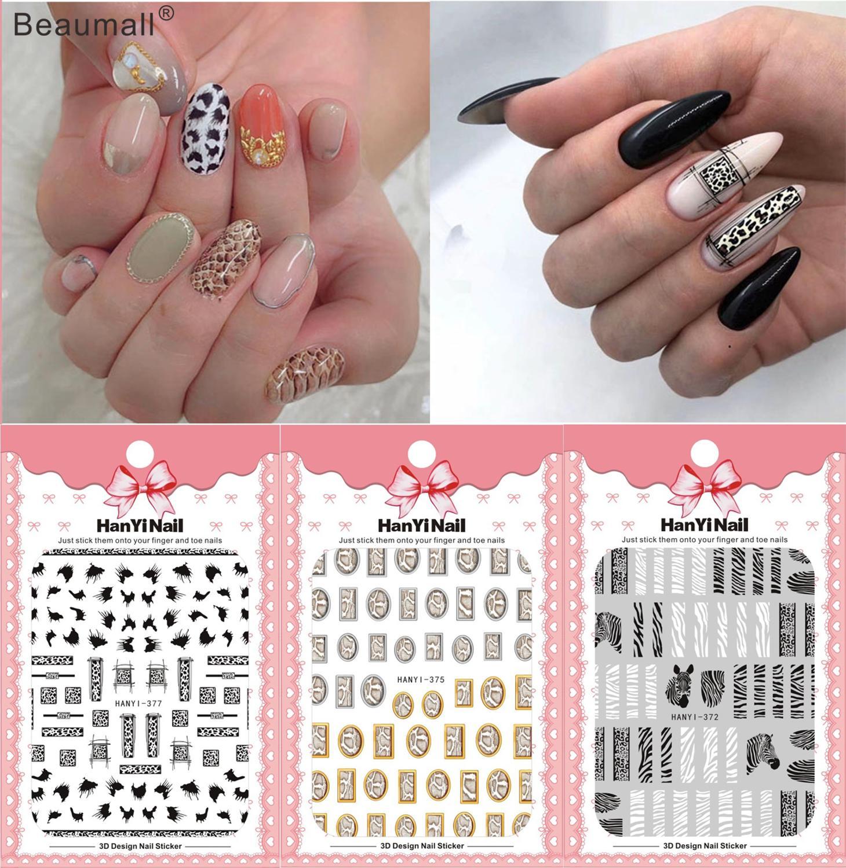 Patrones de moda para manicura y Arte para uñas, calcomanía con pegamento para la espalda, decoración de diseño, pegatina de uñas para uñas, consejos de belleza
