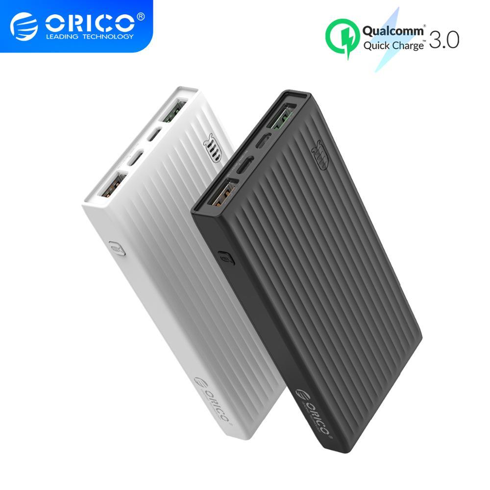 Внешний аккумулятор ORICO QC3.0, 20000 мАч, быстрая зарядка, 18 Вт, внешний аккумулятор для iPhone, type C, Macbook