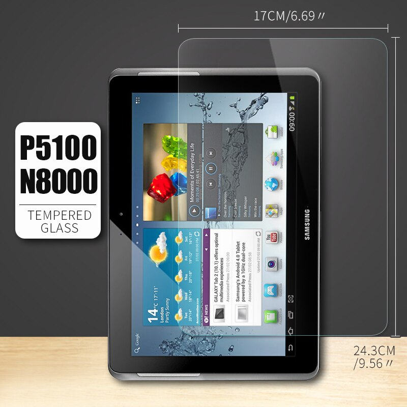 Защитная пленка для экрана планшета из закаленного стекла для Samsung Galaxy Tab 2 10,1 GT-P5100 P5110 Tab4 T530 T535 Tab3 P5200 P5210