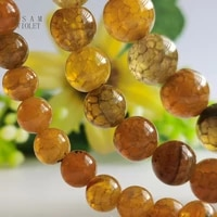 natural orange red fire dragon veins agates beads for making jewelry diy charms bracelets factory wholesale price