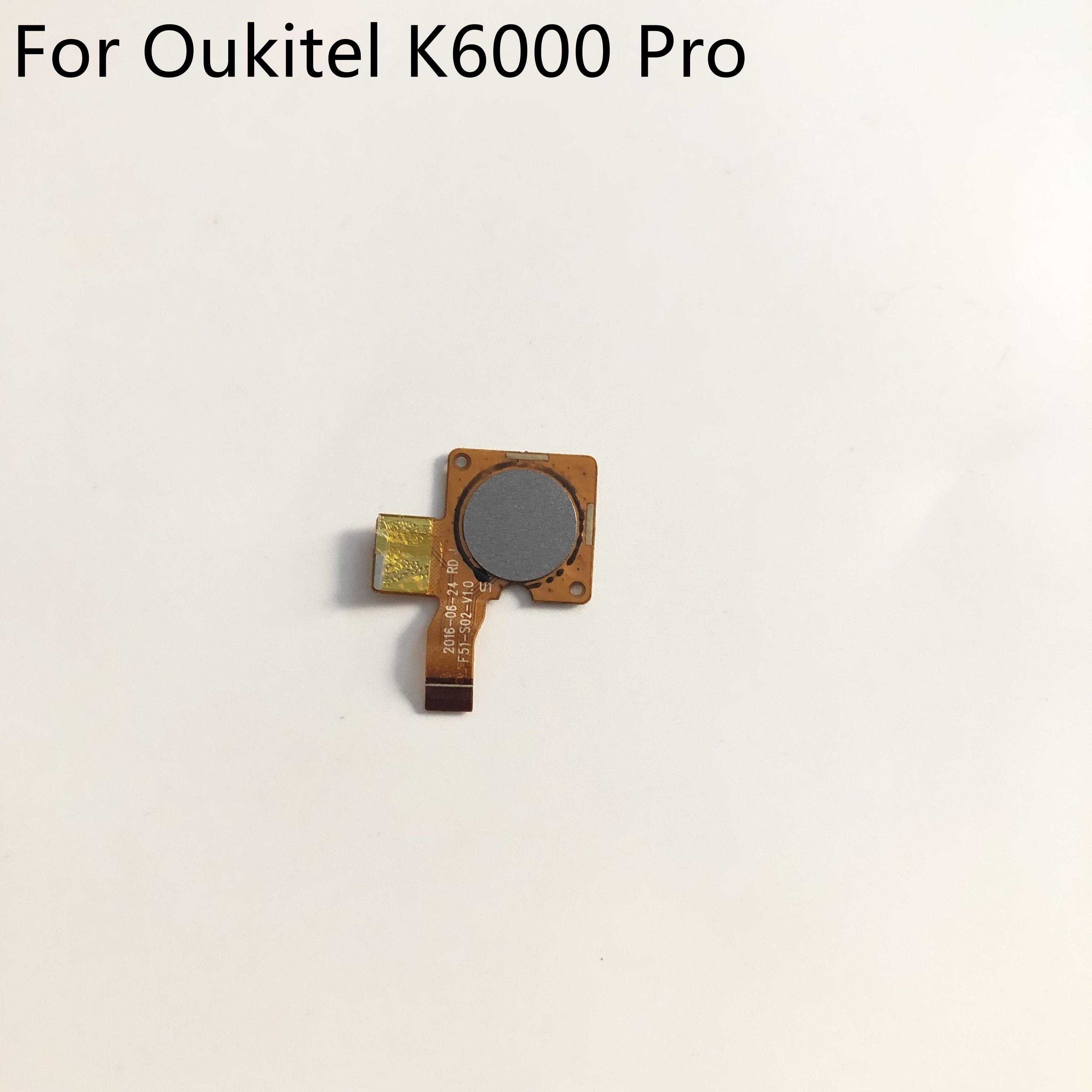 "Botón de Sensor de huella digital usado para Oukitel K6000 Pro 5,5 ""FHD 1920x1080 MT6753 ocho núcleos envío gratis"