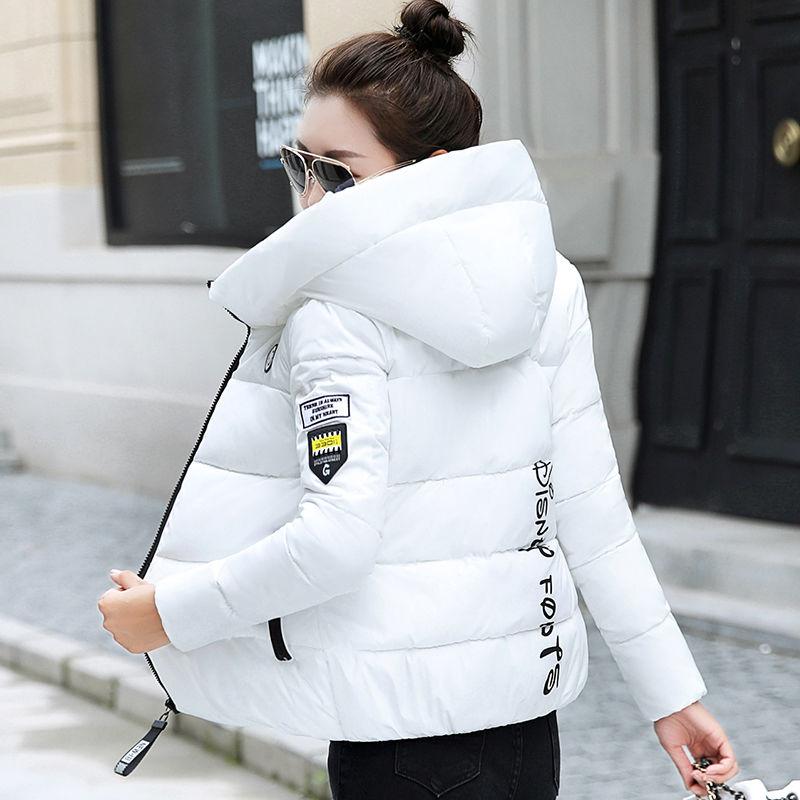 2020 New Winter Parkas Women Jacket Hooded Thick Warm Short Jacket Cotton Padded Parka Basic Coat Fe