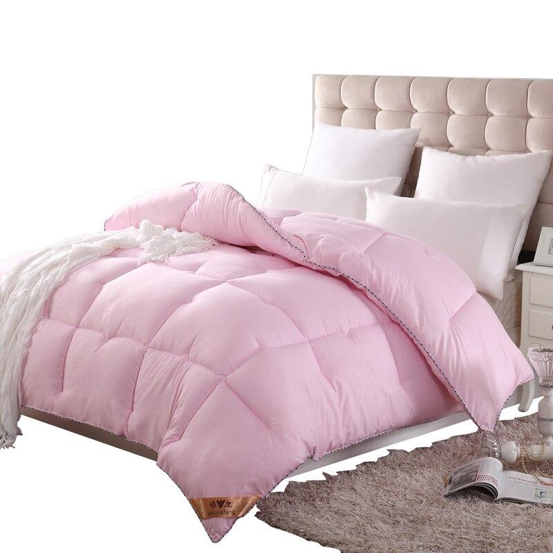 SF الفاخرة تصميم الدافئة ومريحة حاف الغطاء التوأم مزدوجة الملكة الملك الحجم المعزي عالية الجودة 4 مواسم مبطن غطاء السرير