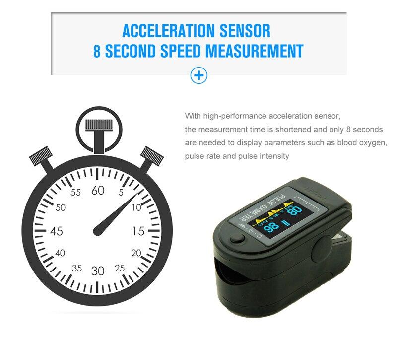 OLED Fingertip Pulse Oximeter Pulse Oximeter Pulsioximetro Pulse Oximeter Pulsioximetro with case