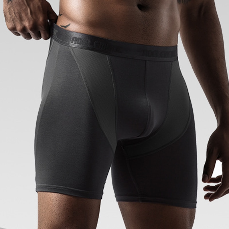 high rise applique mesh briefs in white Men's Sport Mid Rise Boxer Briefs Breathable Pants Breathable Shorts Underwear High Quality Elastic Wholesale Boxers Briefs