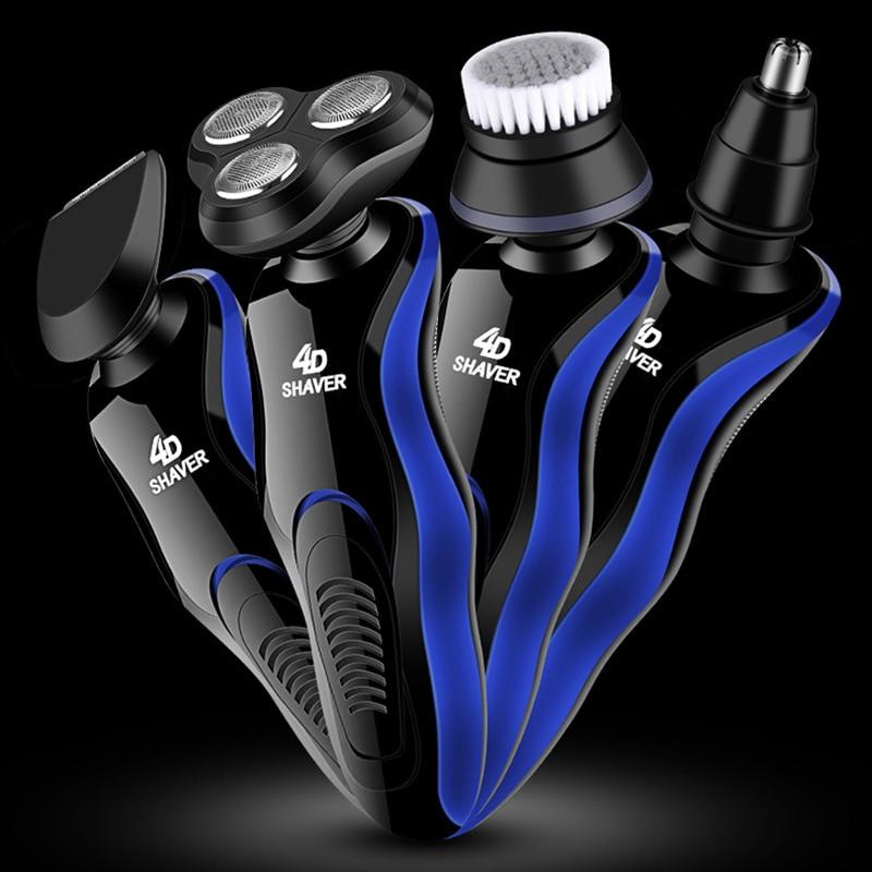 USB Electric Shaver Men Grooming Kit Shaving Machine Beard Razor 3 Blades Cutter Beard Nose Hair Trimmer Cliper Rechargeable Cut enlarge