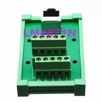 DHL/EMS 5 LOTS RJ45 Ethernet female jack 9pin port Terminal Breakout DIN Rail Mounting Carrier -d2