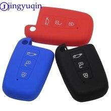 Jingyuqin novo remoto 3 botões caso chave do carro inteligente capa para kia sportage forte optima alma azera sorento titular