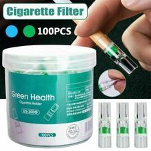 100PCS Disposable Tobacco Cigarette Filter Anti-smoking Quit Addict Filter Cigarette Holder Filter With Fine Smoke Converter