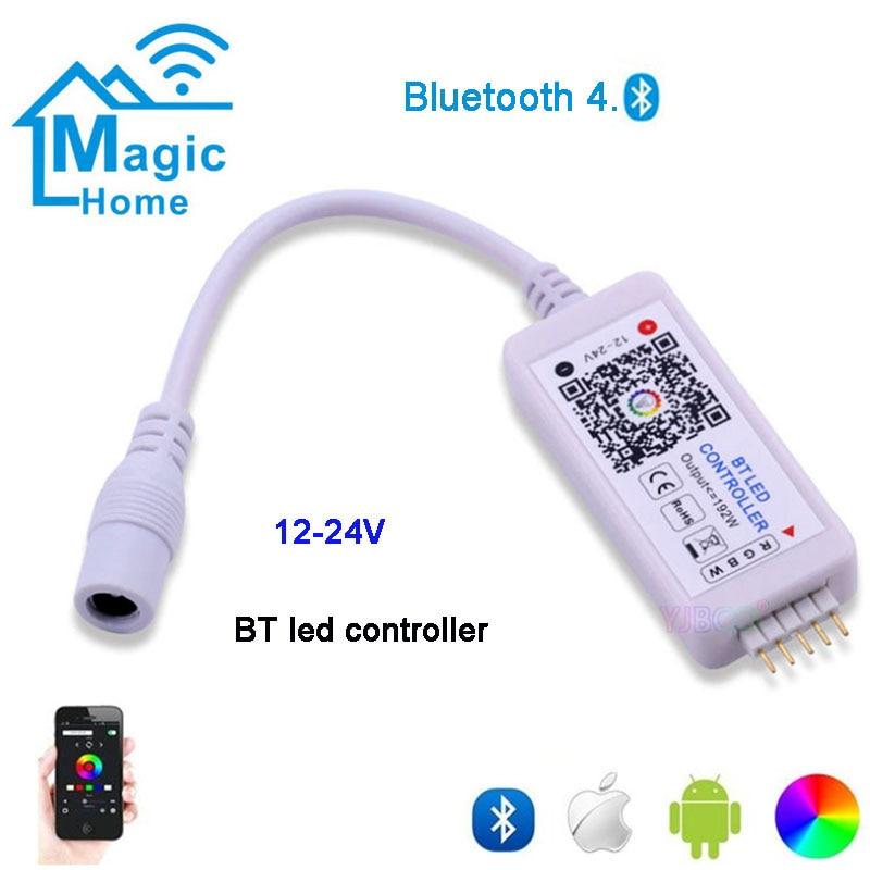 Мини DC12V-24V светодиод BT RGBW контроллер 4 канала Bluetooth RGBW светодиодный контроллер IOS Android приложение для RGB RGBWW светодиодный светильник