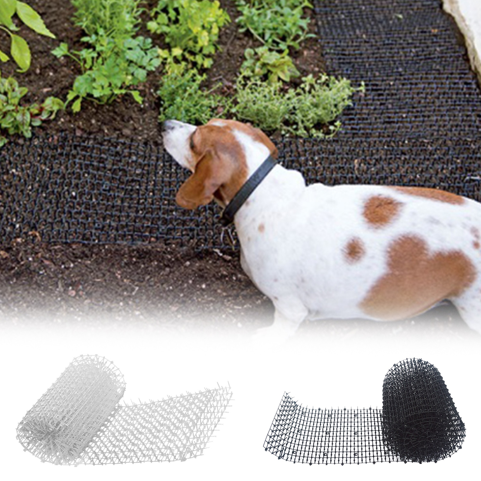 Garden Prickle Strip Dig Stop Cat Repellent Deterrent Mat Spike Portable Anti-Cat Dog Outdoor Garden Supplies 2mx30cm