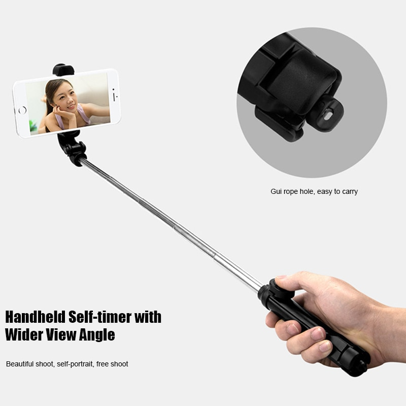 4 In 1 Wireless Bluetooth Selfie Stick with Remote Control for iPhone Samsung Huawei @M23