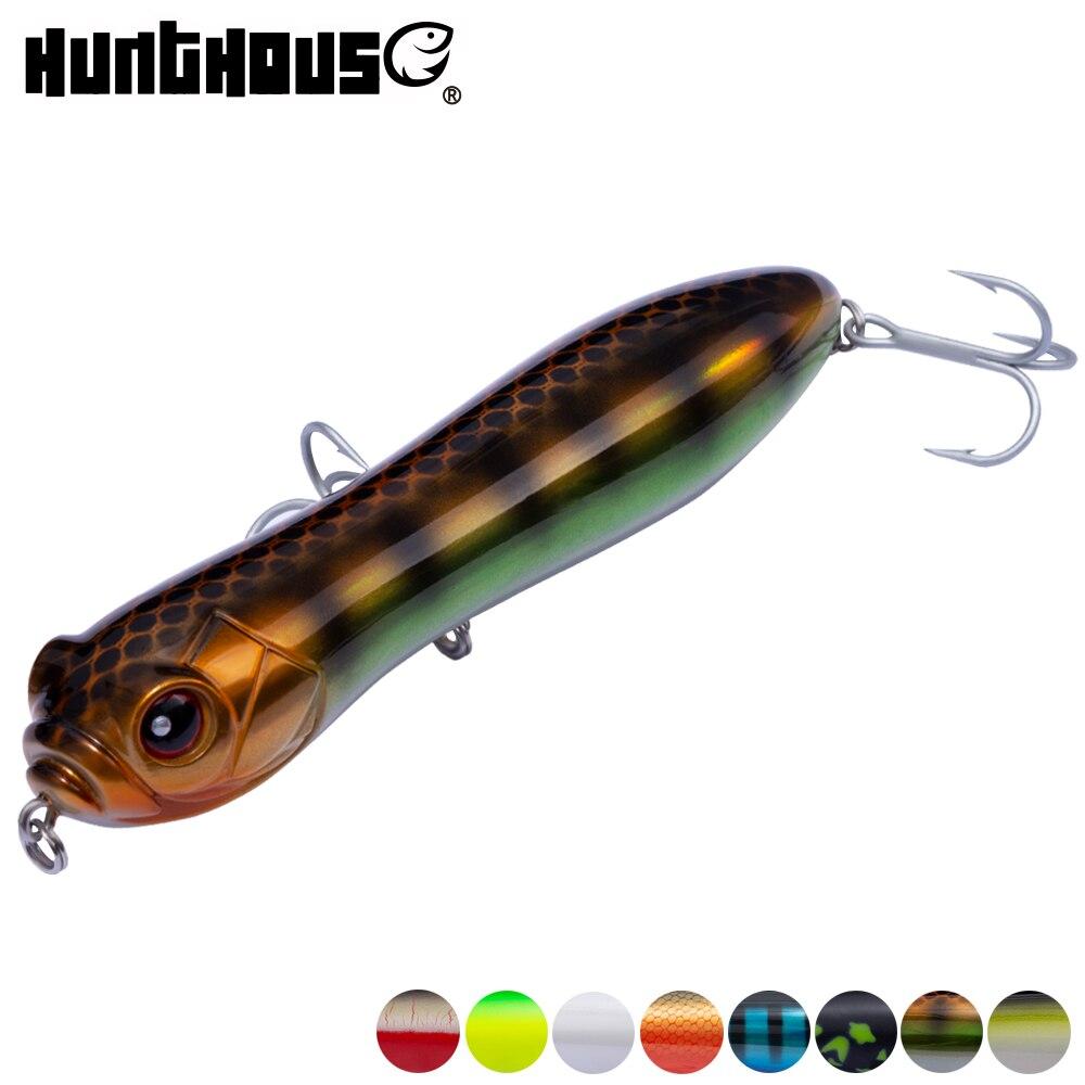 Hunthouse señuelo para pesca con lápiz, superficie darter bait 9cm, lápiz de alta calidad, lubina, Lucio, señuelo, cabeza de serpiente loca holográfica
